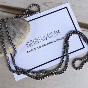 Authentic David Yurman Sterling Box Chain Necklace